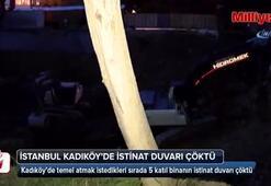 Kadıköy'de istinat duvarı çöktü