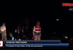 Aydında tren kazası