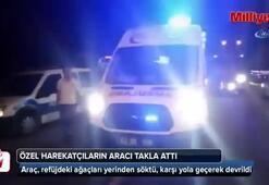 Özel hareket polislerinin bulunduğu araç takla attı