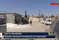 Özgür Suriye Ordusu tarafından başlatılan operasyona Suriyelilerden tam destek geldi