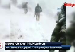 Kato Dağında Mehmetçik, kar tipi demiyor
