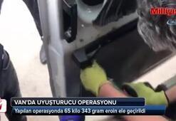 Minibüsün zulasında 65 kilo eroin ele geçirildi