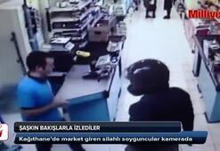 Silahlı soyguncular kamerada