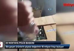 İstanbul'da 20 ayrı noktaya polis baskını