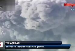 TSK: 1 haftada 63 terörist etkisiz hale getirildi