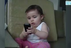 Şirin bebek dakikalarca böyle dedikodu yaptı