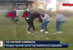Sakaryadaki kız kavgası amatör kameraya yansıdı