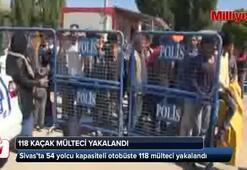 54 kişilik otobüste 118 kaçak göçmen yakalandı
