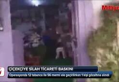 Ataşehirde çiçekçide silah ticaretine polis baskını