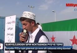 Suriyelilerden sıfır noktasında terör örgütü PYDye tepki