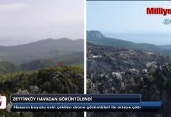 Zeytinköy havadan görüntülendi