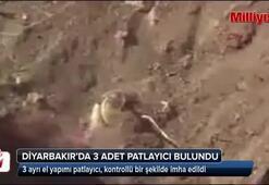 Diyarbakırda 3 ayrı el yapımı patlayıcı imha edildi