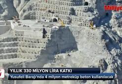 Yusufeli Barajı'nda 4 milyon metreküp beton kullanılacak