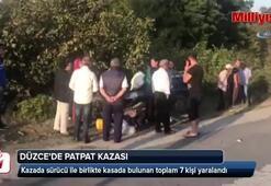 Düzce'de patpat kazası: 7 yaralı