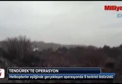 Tendürekte helikopterli terör operasyonu kamerada