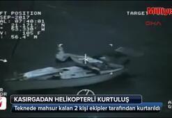 İrma kasırgasından helikopterli kurtuluş
