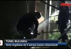 Terör örgütüne yapılan baskında tünel bulundu