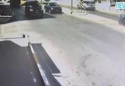 Aracın çarptığı ATV sürücüsü havaya uçtu
