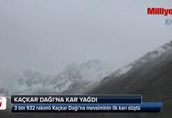 Kaçkar Dağına kar yağdı