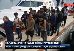 Çanakkale'de 31 kaçak göçmen yakalandı