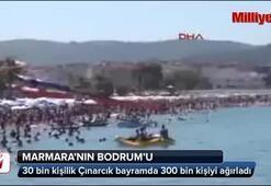 30 bin kişilik ilçe bayramda 300 bin kişiyi ağırladı