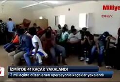 Foçada 41 kaçak yakalandı