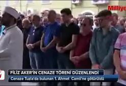 Filiz Akerin cenaze töreni düzenlendi