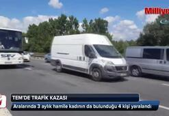 Kocaeli TEMde trafik kazası: 4 yaralı