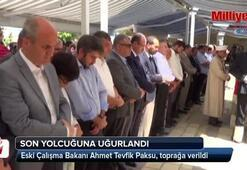 Ahmet Tevfik Paksu son yolculuğuna uğurlandı