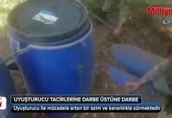 Diyarbakırın ilçe kırsalında uyuşturucu tacirlerine yönelik operasyon düzenlendi