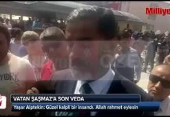 Cenaze törenine katılan Yaşar Alptekin açıklama yaptı