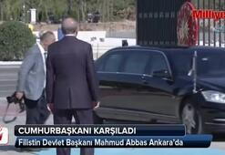 Filistin Devlet Başkanı Mahmud Abbas Ankarada