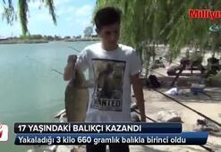 Yarışmayı 3 kilo 660 gramlık balıkla kazandı