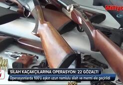 11 ilde silah kaçakçılarına operasyon