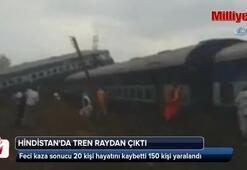 Hindistanda tren raydan çıktı: 20 ölü, 150 yaralı