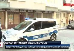 Sokak ortasında kuyumcuya silahlı soygun