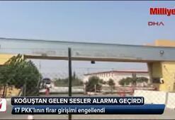 17 PKKlının firar girişimi engellendi