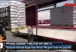 Gürbulak Sınır Kapısında 79 kilo 716 gram uyuşturucu ele geçirildi