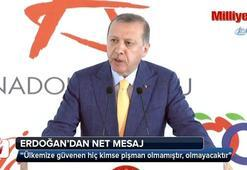 Cumhurbaşkanı Erdoğandan yatırımcıya net mesaj