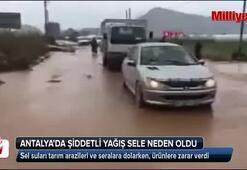 Antalyada şiddetli yağış sele neden oldu