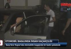 Otomobil bagajında insan kaçakçılığı