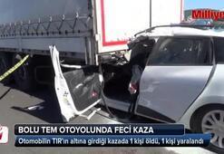 Otomobil tırın altına girdi: 1 ölü, 2 yaralı