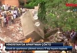 Hindistanda apartman çöktü: 17 ölü