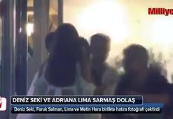 Deniz Seki ve Adriana Lima sarmaş dolaş