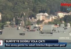 Rus savaş gemisi bu sabah İstanbul Boğazından geçti