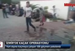 İzmirde kaçak göçmen operasyon