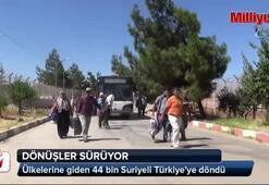 Ülkelerine giden 44 bin Suriyeli Türkiyeye döndü