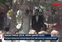Bakan Faruk Çelik, nikah şahidi oldu