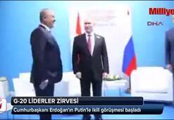 Cumhurbaşkanı Erdoğanın Putinle ikili görüşmesi başladı
