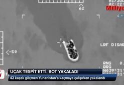 Uçak tespit etti, bot yakaladı